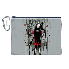 Come Play With Me   Canvas Cosmetic Bag (l) by lvbart