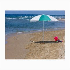 Beach Umbrella Glasses Cloth (small) by PhotoThisxyz
