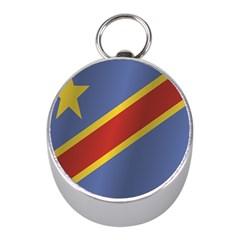 Flag Of Democratic Republic Of The Congo Mini Silver Compasses by artpics