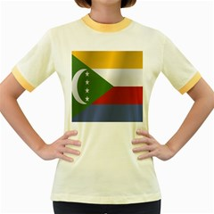 Flag Of Comoros Women s Fitted Ringer T-Shirts by artpics