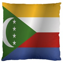 Flag Of Comoros Large Flano Cushion Case (Two Sides) by artpics