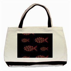 Orange Fishes Pattern Basic Tote Bag (two Sides) by Valentinaart