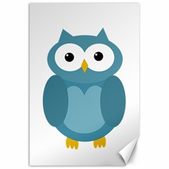 Cute Blue Owl Canvas 20  X 30   by Valentinaart