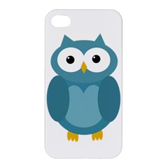 Cute Blue Owl Apple Iphone 4/4s Hardshell Case by Valentinaart