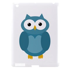 Cute Blue Owl Apple Ipad 3/4 Hardshell Case (compatible With Smart Cover) by Valentinaart