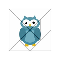 Cute Blue Owl Acrylic Tangram Puzzle (4  X 4 ) by Valentinaart