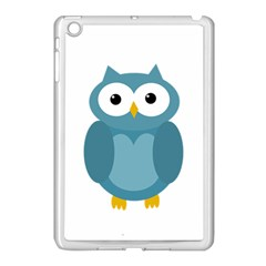 Cute Blue Owl Apple Ipad Mini Case (white) by Valentinaart