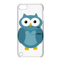 Cute Blue Owl Apple Ipod Touch 5 Hardshell Case With Stand by Valentinaart