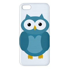 Cute Blue Owl Apple Iphone 5 Premium Hardshell Case by Valentinaart