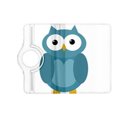 Cute Blue Owl Kindle Fire Hd (2013) Flip 360 Case by Valentinaart