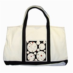 Decorative Circles Two Tone Tote Bag by Valentinaart
