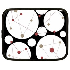 Decorative Circles Netbook Case (large) by Valentinaart