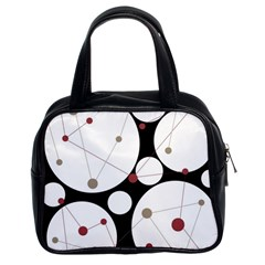 Decorative Circles Classic Handbags (2 Sides) by Valentinaart