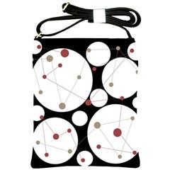 Decorative Circles Shoulder Sling Bags by Valentinaart