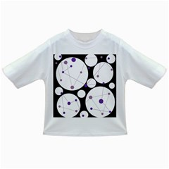 Decorative Circles   Purple Infant/toddler T Shirts by Valentinaart