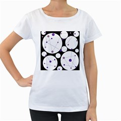 Decorative Circles   Purple Women s Loose Fit T Shirt (white) by Valentinaart