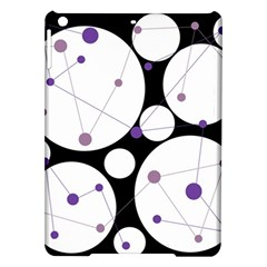 Decorative Circles   Purple Ipad Air Hardshell Cases by Valentinaart