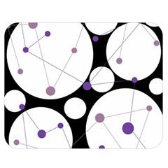 Decorative Circles   Purple Double Sided Flano Blanket (medium)  by Valentinaart