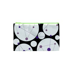 Decorative Circles   Purple Cosmetic Bag (xs) by Valentinaart