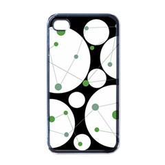 Decorative Circles   Green Apple Iphone 4 Case (black) by Valentinaart