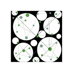 Decorative circles - green Acrylic Tangram Puzzle (4  x 4 ) by Valentinaart