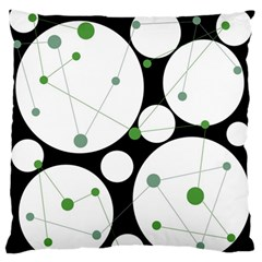 Decorative Circles   Green Standard Flano Cushion Case (one Side) by Valentinaart