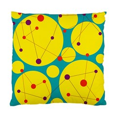 Yellow And Green Decorative Circles Standard Cushion Case (one Side) by Valentinaart