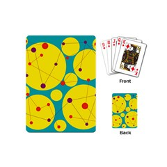 Yellow And Green Decorative Circles Playing Cards (mini)  by Valentinaart