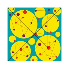 Yellow And Green Decorative Circles Acrylic Tangram Puzzle (6  X 6 ) by Valentinaart