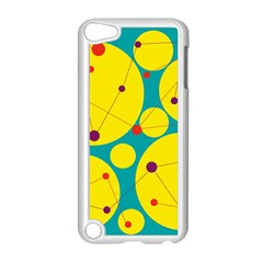 Yellow And Green Decorative Circles Apple Ipod Touch 5 Case (white)