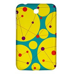 Yellow And Green Decorative Circles Samsung Galaxy Tab 3 (7 ) P3200 Hardshell Case  by Valentinaart