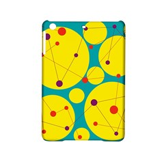 Yellow And Green Decorative Circles Ipad Mini 2 Hardshell Cases by Valentinaart