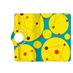 Yellow And Green Decorative Circles Kindle Fire Hdx 8 9  Flip 360 Case by Valentinaart