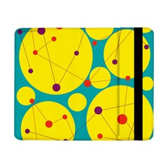 Yellow And Green Decorative Circles Samsung Galaxy Tab Pro 8 4  Flip Case by Valentinaart