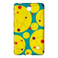 Yellow And Green Decorative Circles Samsung Galaxy Tab 4 (8 ) Hardshell Case  by Valentinaart