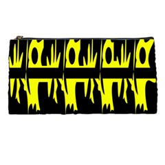 Yellow Abstract Pattern Pencil Cases by Valentinaart