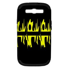 Yellow Abstract Pattern Samsung Galaxy S Iii Hardshell Case (pc+silicone) by Valentinaart