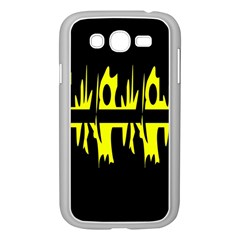 Yellow Abstract Pattern Samsung Galaxy Grand Duos I9082 Case (white) by Valentinaart