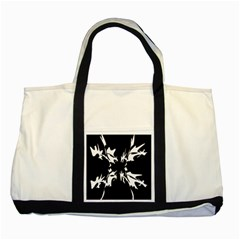 Black And White Pattern Two Tone Tote Bag by Valentinaart