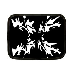 Black And White Pattern Netbook Case (small)  by Valentinaart