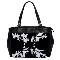 Black And White Pattern Office Handbags by Valentinaart