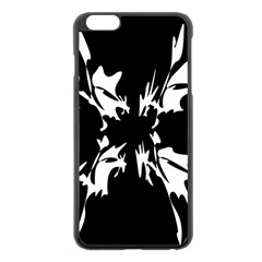 Black And White Pattern Apple Iphone 6 Plus/6s Plus Black Enamel Case by Valentinaart