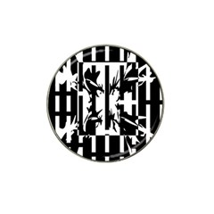 Black And White Abstraction Hat Clip Ball Marker (10 Pack) by Valentinaart