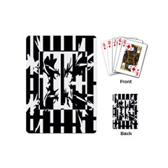 Black And White Abstraction Playing Cards (mini)  by Valentinaart