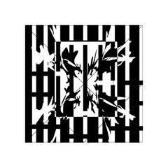 Black And White Abstraction Acrylic Tangram Puzzle (4  X 4 ) by Valentinaart