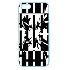 Black And White Abstraction Apple Seamless Iphone 5 Case (color) by Valentinaart