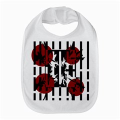 Red, Black And White Elegant Design Bib by Valentinaart