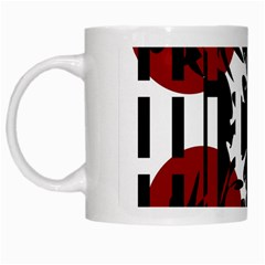 Red, Black And White Elegant Design White Mugs by Valentinaart
