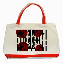 Red, Black And White Elegant Design Classic Tote Bag (red) by Valentinaart