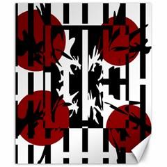 Red, Black And White Elegant Design Canvas 20  X 24   by Valentinaart